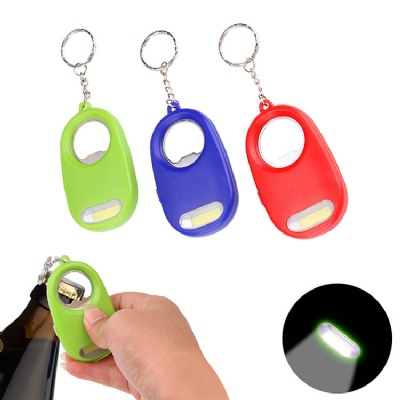 COB Flashlight Keychain with Bottle Opener