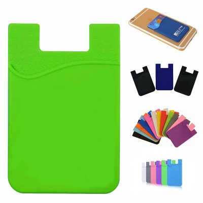 Adhesive Silicone Phone Wallet Card Holder