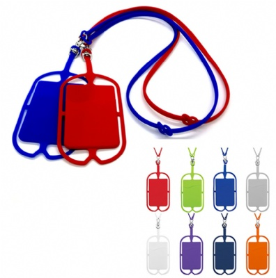 Silicone Phone Lanyard Credit Card Holder