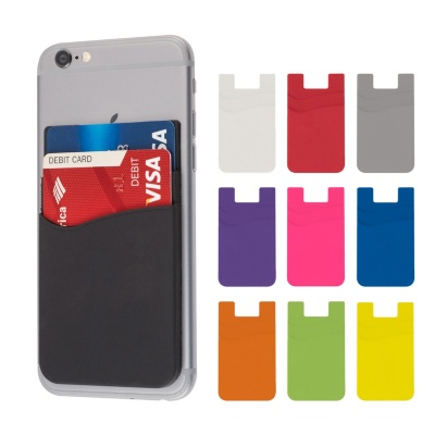 Dual Pocket Silicone Phone Wallets Card Holder