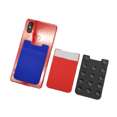 Silicone Sucker Phone Wallet Card Holder