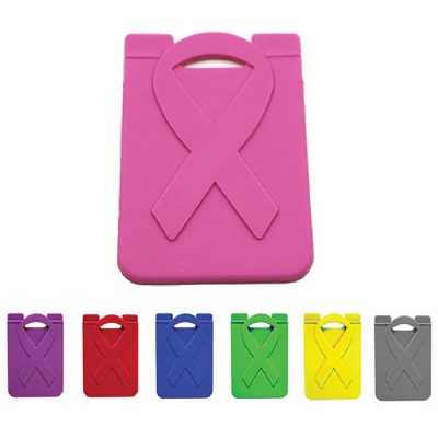 Ribbon Silicone Phone Wallet Credit Card Holder