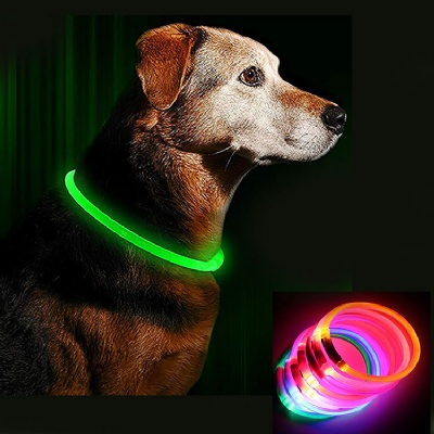 LED Dog Collar USB Rechargeable Glowing Dog Collar