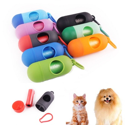 Pet Waste Poop Bags w/ Clip and Dispenser