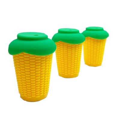 Silicone Corn Cup Mug with Lid