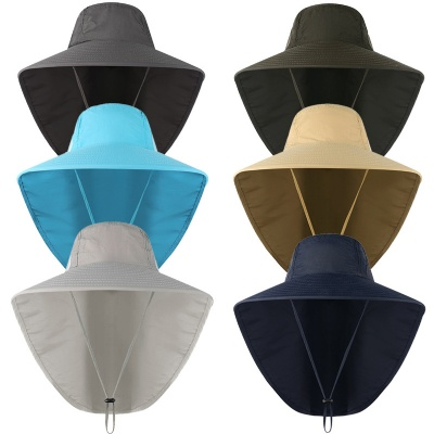 Wide Brim Sun Hat with Neck Flap