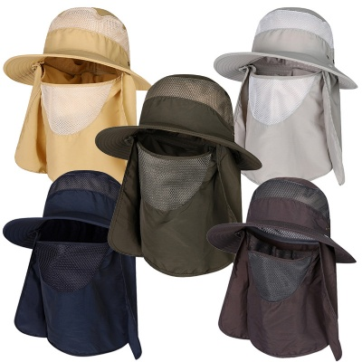 Sun Bucket Hat with Face Neck Flaps