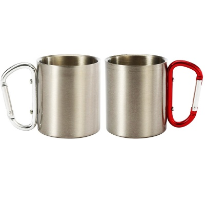 Stainless Steel Mug w/ Carabiner Handle