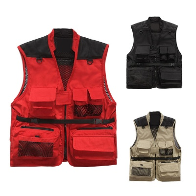 Travel Photography Fishing Vest with Pockets