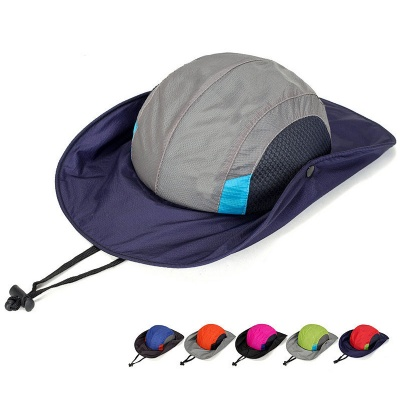 Wide Brim Outdoor Fishing Cap Bucket Hat