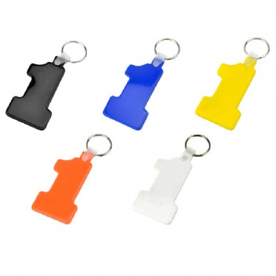 Number One Plastic Keychain Key Tag