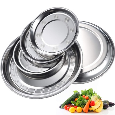 Round Stainless Steel Plate Dish