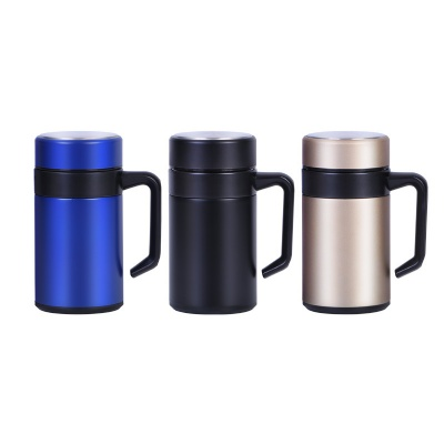 Men's Stainless Steel Vacuum Insulated Cup w/ Handle