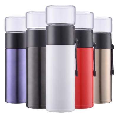 Stainless Steel Vacuum Insulated Bottle w/ Glass Cup