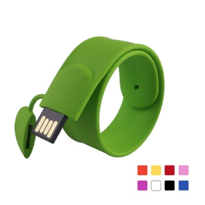 2GB USB Flash Drive Silicone Wristband