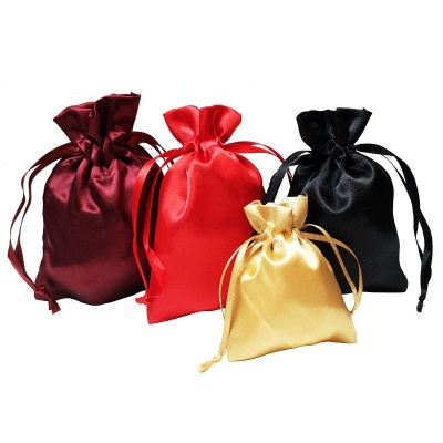 Satin Drawstring Pouch Jewelry Bags