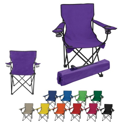 Folding Camp Chair Beach Chair w/ Carry Bag