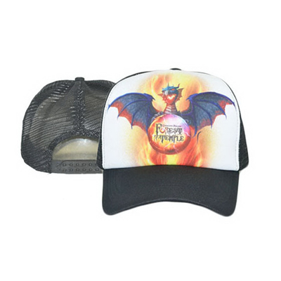 Sublimated Flat Bill Snapback Mesh Foam Trucker Cap