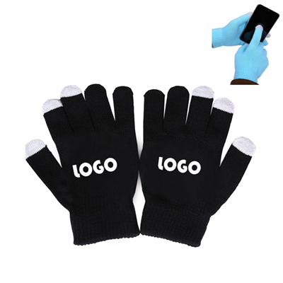 Custom Smartphone Acrylic Touch Screen Knit Gloves