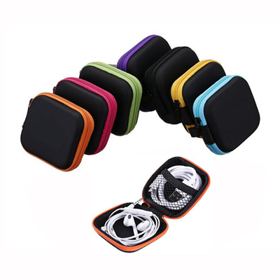 Square Earbuds Case Storage Pouch Earphone Box Headset Bag