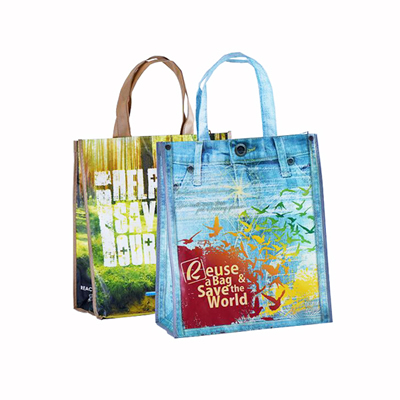Laminated Non-woven Shopping Tote Bag Reu5sable Grocery Bags