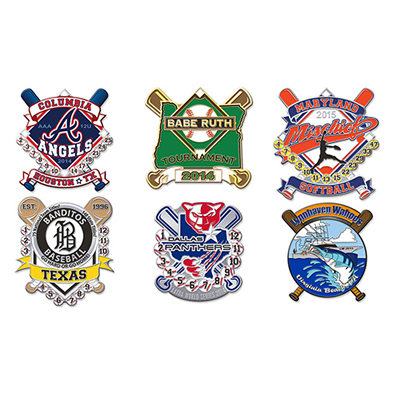 Die Casting Enamel Baseball Pin Badge