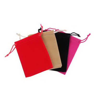 Velvet Pouches Drawstring Bag