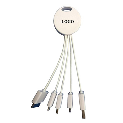 Round Shape 4 in 1 Multiple Charging Cable