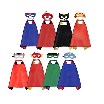 Superhero Dress Up Costumes Capes With Mask