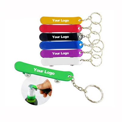 Skateboard Shape Aluminum Bottle Opener Key Chain