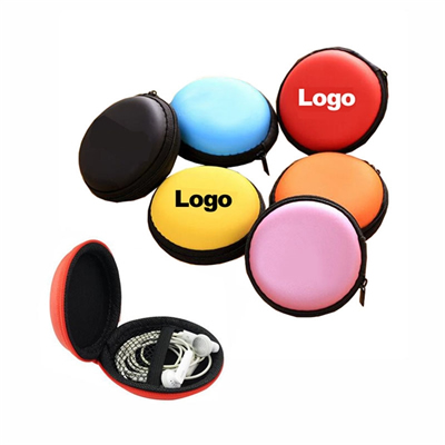 Round Earbuds Storage Case Earphone Box Headset Bag