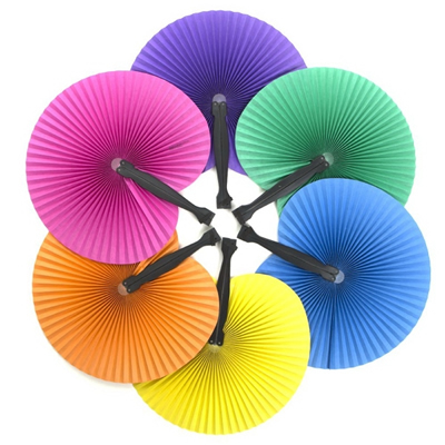 Solid Color Handheld Folding Fans
