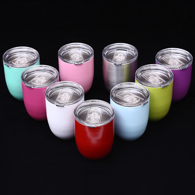 10oz Stainless Steel Egg Shaped Cup