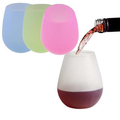 11oz Unbreakable Silicone Wine Glasses