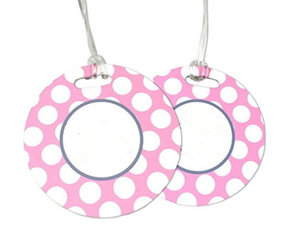 Round Plastic PVC Luggage Tags