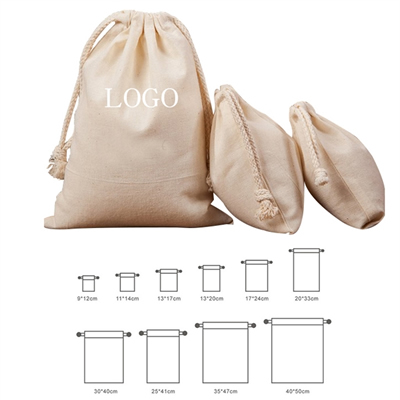 Custom Drawstring Cotton Bag Pouch