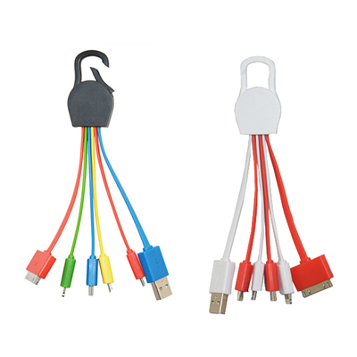 5 In 1 USB Charing Cable With Buckle