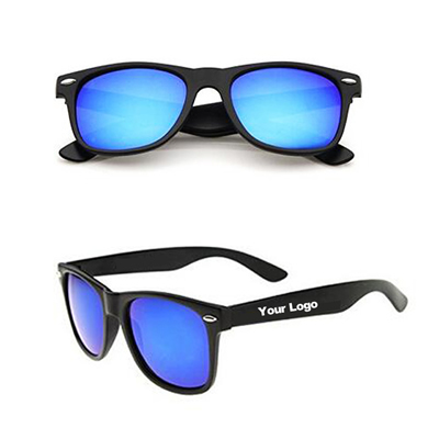 Classic Rimmed Mirror Lens Polarized Sunglasses