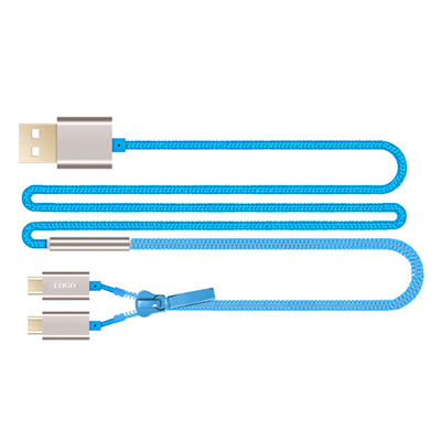 2 In 1 Zipper USB Charging Cable