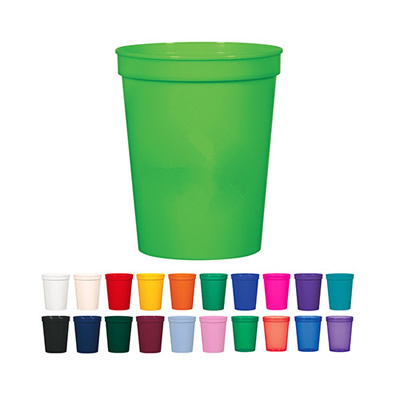 16 oz. Plastic Stadium Cups 470ml