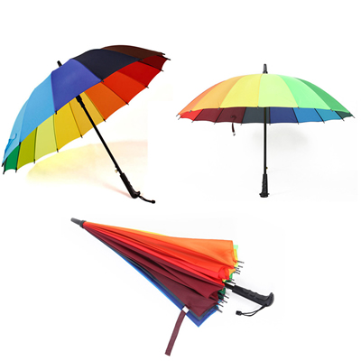Promotion 16 Panels Rainbow Umbrella