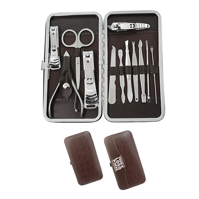 Travel Case 12-Piece Nail Clippers Kit