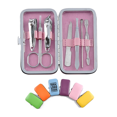 7-piece Nail Clippers Set Travel Case