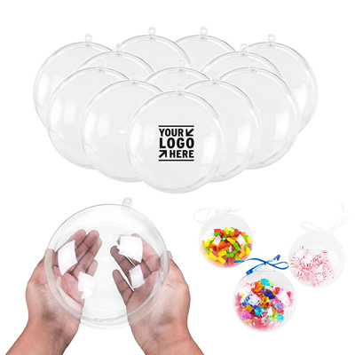 Plastic Transparent Christmas ornaments