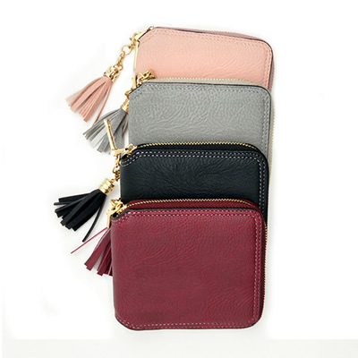 PU Leather Zip Card Bag