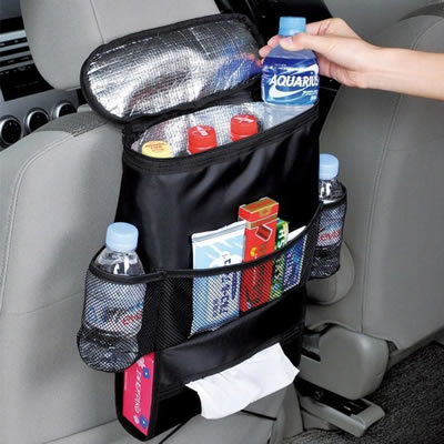 Car Seat Backrest Organizer With Cooler