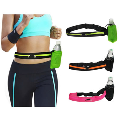 Waterproof Springy Sport Waist pack With Bottle Carrier