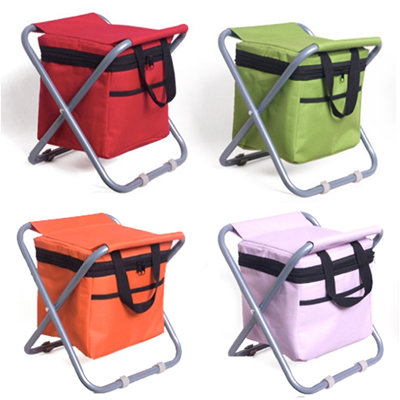 Portable Folding Fishing Stool with Ice Cooler Bag
